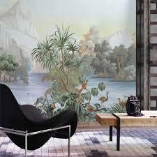 <b>beibehang Custom</b> 3d <b>wallpaper</b> green coconut tree <b>tropical</b> rain ...