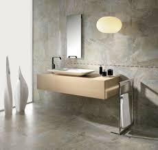bathroom fascinating floating vanity in beige tone and rectangular single sink with aluminum standing towel bathroom pendant lighting ideas beige granite