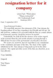 resignation letter for it company – example business letterresignation letter for it company