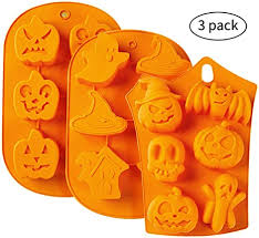 <b>Halloween Silicone Baking Molds</b> - 3pc Nonstick Cake Molds FDA ...