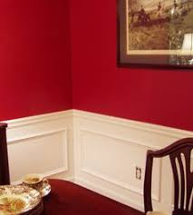 room paint red: adding wainscoting molding to the dining room paint white below the chair rail