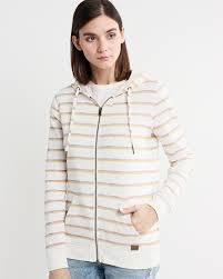 <b>Худи</b> женское <b>Roxy</b> Trippin Stripes J Otlr, цвет: бежевый ...