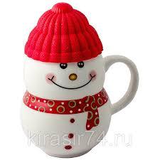 <b>Кружка</b>-<b>снеговик</b> Растопи лёд красный <b>Эврика</b>: продажа, цена в ...