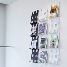 magazine rack wall mount: coen van ham foldr wall mounted magazine holder