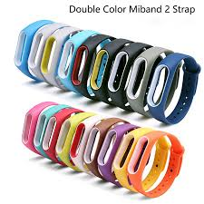 Double Color Mi Band 2 Strap <b>Replacement Silicone Wriststrap</b> ...