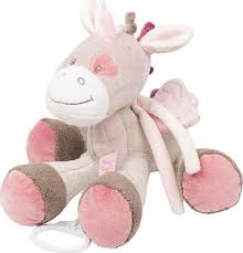 <b>Игрушка мягкая Nattou Musical</b> Soft toy Nina, Jade & Lili Единорог ...