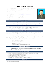 good resume resume ideas    ms word latest cv format 2016 in smlf