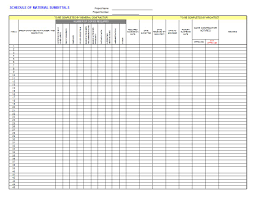 submittal log template job stuff logs and templates submittal log template
