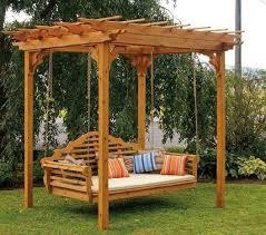 pergola ideas pergola swing bed  inspiring diy backyard pergola ideas to enhance the