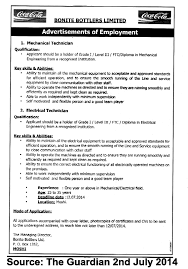 mechanical technician electrical technician tayoa employment portal job description