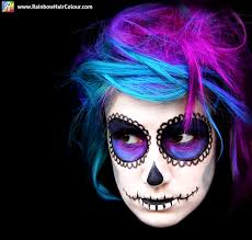 day of the dead sugar skull hair and makeup