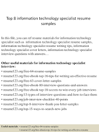 resume for information technology specialist information technology specialist resume samples visualcv resume visualcv extraordinary resume information technology brefash