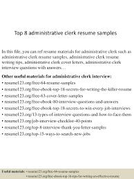 topadministrativeclerkresumesamples conversion gate thumbnail jpg cb