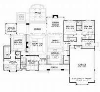 Large Kitchen House Plans   Smalltowndjs com    Superb Large Kitchen House Plans   One Story House Plans With Porches