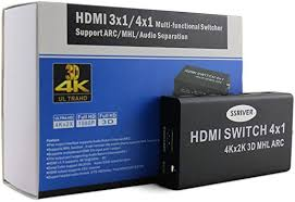 4K HDMI Switch 4x1, SSRIVER HDMI 4K x 2K <b>4 Port Multi</b>-<b>functional</b> ...