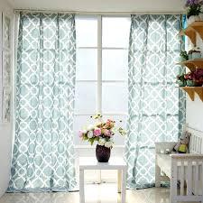 Green <b>Custom Style</b> Printed Linen/Cotton <b>Geometric Curtains</b>