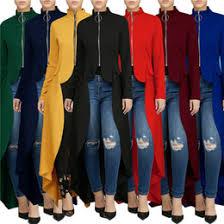 Zip Neck <b>Women's</b> Trench Coats | <b>Women's</b> Outerwear & Coats ...