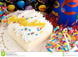 Decorated Birthday Cakes Happy Birthday Cake With Decorations Royalty Free Stock Image