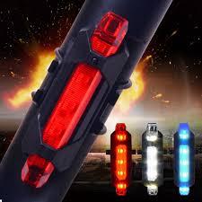 Hot Sale <b>5 LED</b> Night Mountain <b>LED Bicycle</b> Tail Light USB ...