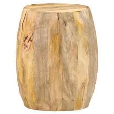 vidaXL <b>Solid Mango</b> Wood <b>Drum Stool</b> Wooden Sitting Seat Plant ...