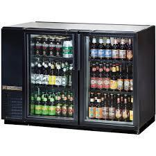 true tbb 24gal 48g ld 48 glass door back bar refrigerator with back bar lighting