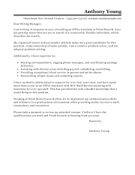 best office assistant cover letter examples livecareer gallery of cover letter assistant