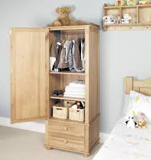 image 1 showing mobel oak amelie oak childrens single wardrobe baumhaus mobel oak drawer