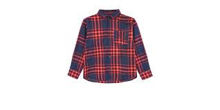 <b>Рубашка в крупную</b> клетку Emporio Armani Красный - купить за 11 ...