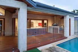 gallery outdoor kitchen lighting: image of modern outdoor kitchen decking