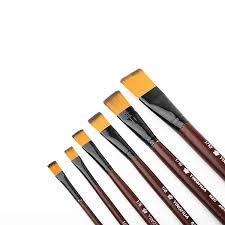 <b>6Pcs</b> Nylon Hair Wooden Handle Different Size Watercolor Acrylic ...