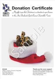 donation certificates bird rescue charitable trust year round designs