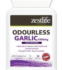 Zestlife ODOURLESS <b>GARLIC</b> 1000mg <b>90</b> softgel <b>capsules</b>   Zestlife