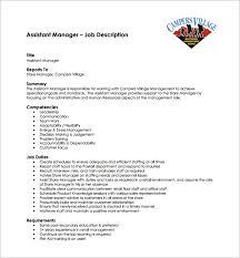 assistant manager job description template –   free word  pdf    hr assistant manager job description free pdf template