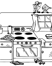 Small Picture Mother and Daughter Baking Cookie in the Kitchen Coloring Pages