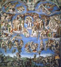 da vinci religious paintings creation of adam by michelangelo michelangelo last judgement fresco on altar wall of sistine chapel 1536 41