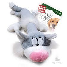 <b>GiGwi Dog</b> Toys / <b>Игрушка</b> Гигви для собак Кот с большой пищалкой