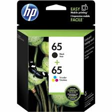 HP 65 Ink Cartridges - Black, Tri-<b>color</b>, 2 Cartridges (T0A36AN ...