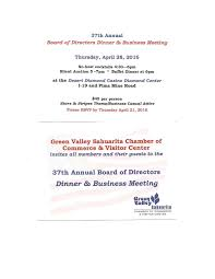 green valley sahuarita chamberof commerce th annual board of apr 10 2016