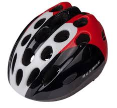 Детский <b>шлем Runbike</b> для беговела черно-красно-белый, купить ...