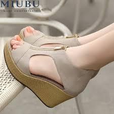 <b>MIUBU</b> New <b>Style</b> Sandals <b>Woman Summer</b> Platform Wedges ...