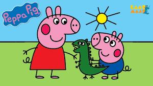 <b>Раскраска Свинка Пеппа</b> и братик Джордж. Веселые раскраски ...
