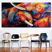 2019 Watercolor <b>Animal Art</b> Elephant Lovers Canvas <b>Paintings</b> Wall ...