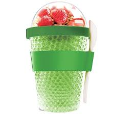 <b>Охлаждающий контейнер Chill Yo</b> 2 Go, зеленый с логотипом ...