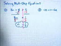 Solving Two Step Equation with Fractions Help Video in High School