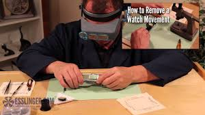 How to Remove a Glued Watch Crystal with Hand Pressure - YouTube