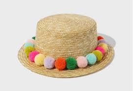 Fashion <b>straw</b> fedora <b>summer sun hat</b> tribal band pompom panama ...