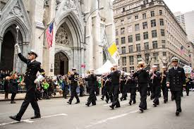 u s department of defense photo essay navy band northeast es past st patrick s cathedral on fifth avenue during the 254th st