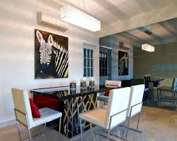dining room wall decorating ideas: luxurious dining room applying white wall color with dining room wall decor completed with sleek table