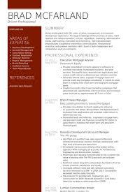 Advisor Resume Samples   VisualCV Resume Samples Database Executive Mortgage Advisor Resume Samples