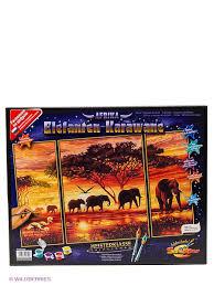 """<b>Набор для раскрашивания</b> """"Триптих Африканские слоны ..."""